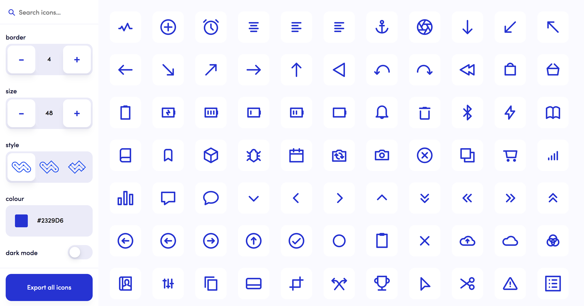 fully customisable accessible vector icons